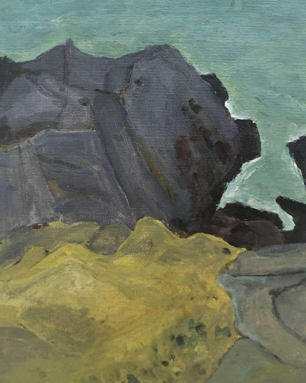 Sonoma Coast 10� x 8� Oil Paintingphoto Marie Van Elder