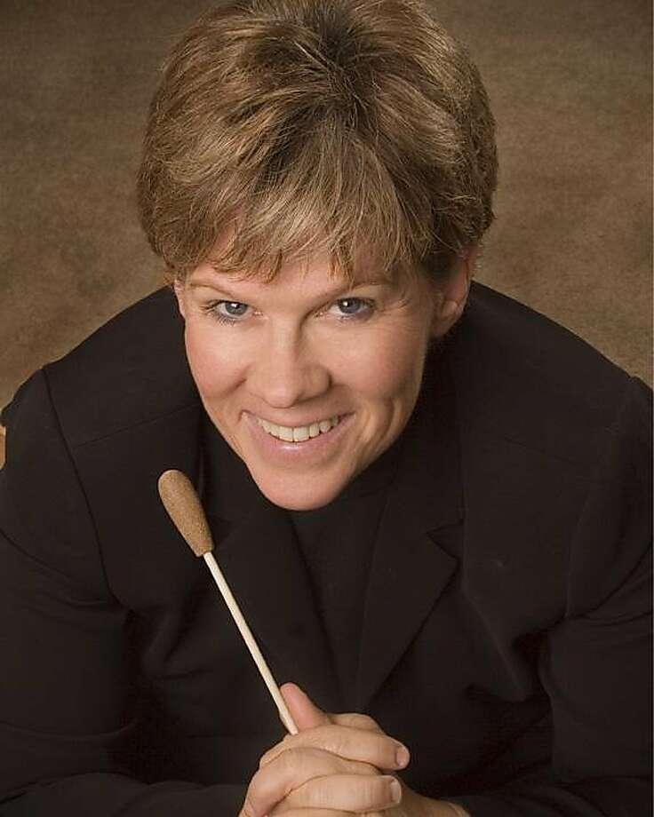 Dawn Harms will conduct Elgar, Brahms and Saint-Saëns. Photo: Bay Area Rainbow Symphony
