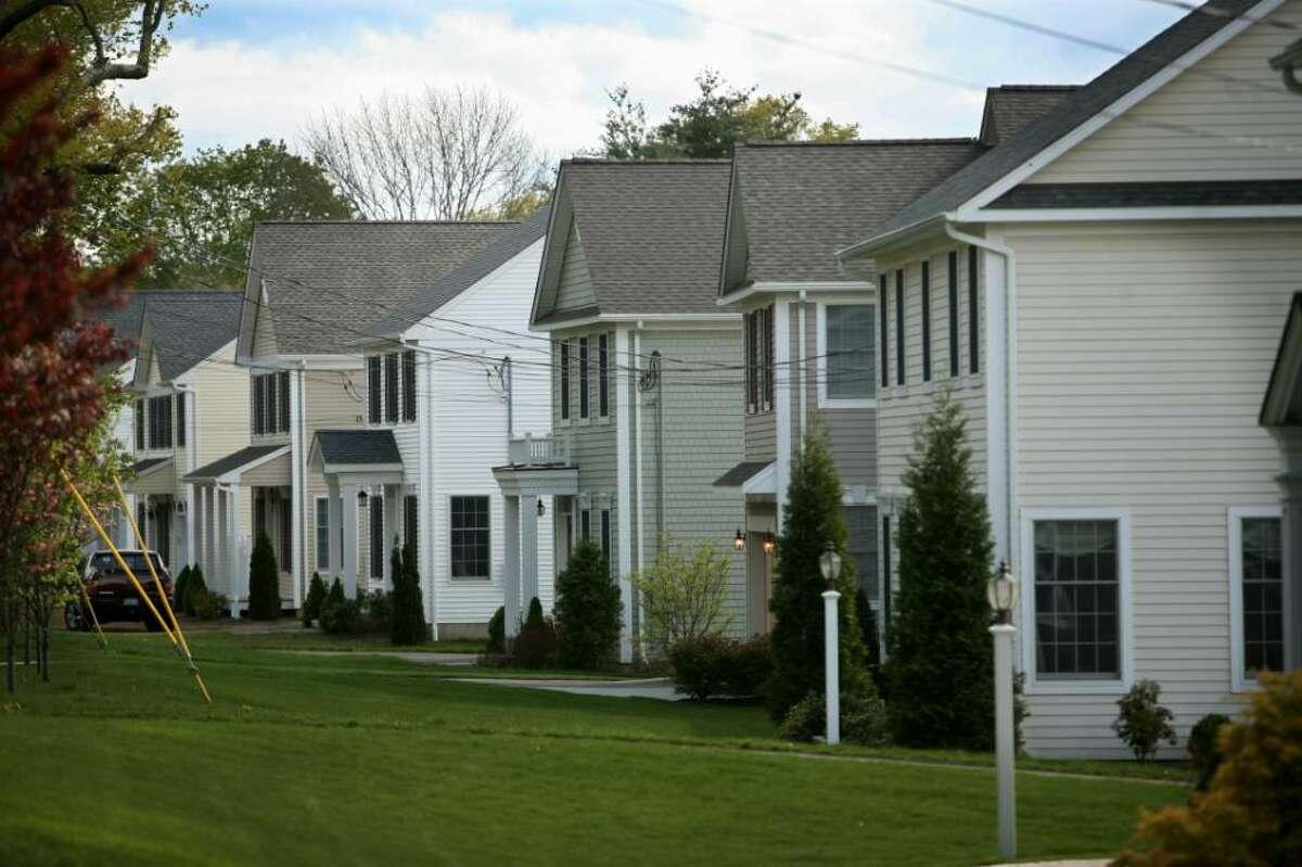 Homes in the Duck Farm Estates development on Mill Plain Road in Fairfield.