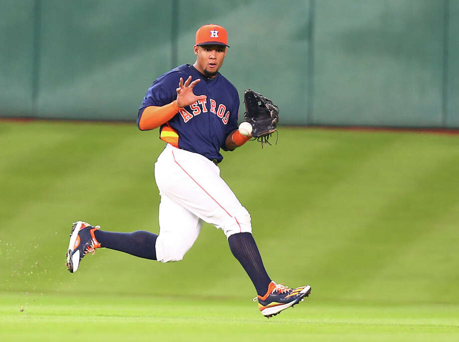 The Rangers likely will call up former Astro Carlos Gomez from Class AAA on Thursday to start in left field, a position currently manned by a platoon. Photo: Jon Shapley, Staff / © 2015  Houston Chronicle