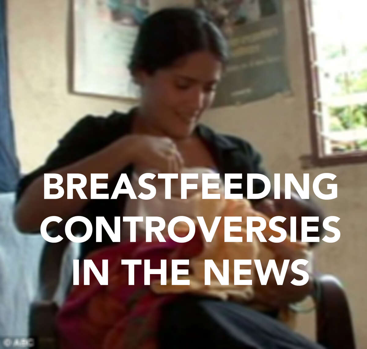 This isn't the first time breastfeeding has been in the news, click through for some of the more controversial moments.