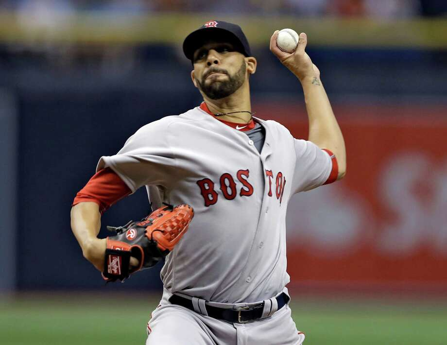 Boston Red Sox starting pitcher David Price delivers to the Tampa Bay Rays during the first inning of a baseball game Monday, Aug. 22, 2016, in St. Petersburg, Fla. (AP Photo/Chris O'Meara) ORG XMIT: SPD101 Photo: Chris O'Meara / Copyright 2016 The Associated Press. All rights reserved. This m