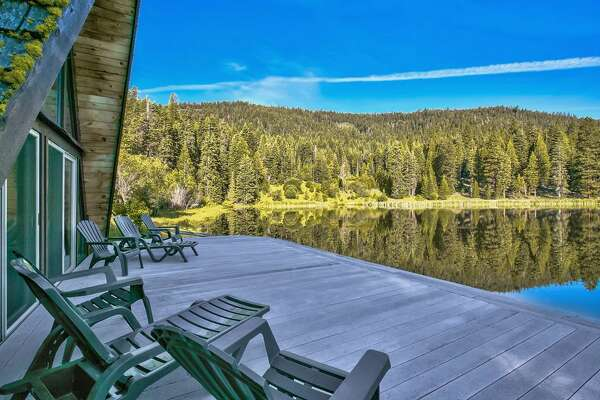 The deck of one cabin gives directly onto the water. Photos: Sothebys Realty.com