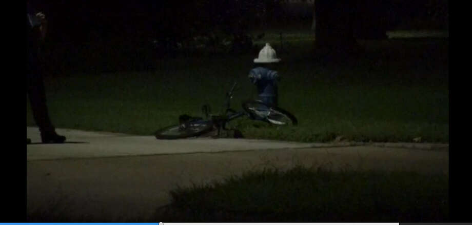 A bicyclist died about 11 p.m. Monday, Aug. 22, 2016, when a car hit as he rode across the street in the 700 block of west 43rd Street near Shepherd in north Houston. (Metro Video)