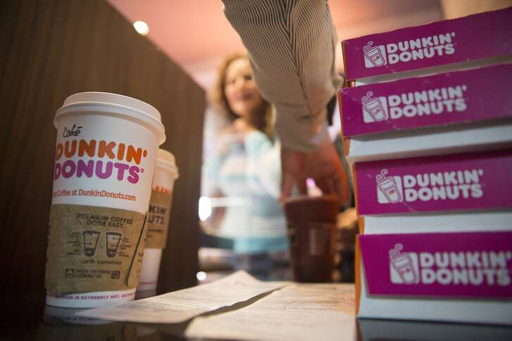 Dunkin' Donuts saw traffic slip at its U.S. locations in the latest quarter. MUST CREDIT: Photo by Susana Gonzalez, Bloomberg Photo by: Susana Gonzalez — Bloomberg