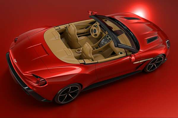 FILE - A handout photo of the Aston Martin Vanquish Zagato Volante. The British automaker announced the vehicle alongside the debut of the Vanquish Zagato Coupe at Pebble Beach, Calif. on Aug. 19, 2016.