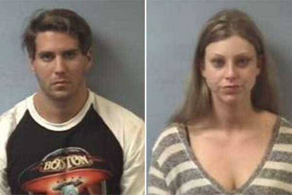 Kayla Marisa Seloff, 22, and Joshua Gene Leal, 27, were charged with criminal trespassing by Friendswood police after they were discovered early Saturday morning inside a home that Seloff had just sold in the area.