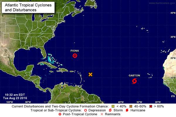 Three storm systems are in the Atlantic Ocean as of Wednesday morning.