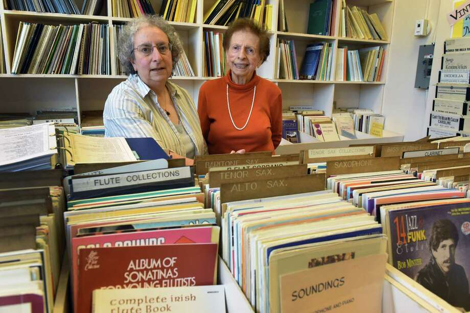 Rhoda and Florence Luborsky operators of VanCurler Music Store in the Proctors Arcade on Friday Aug. 19, 2016 in Schenectady, N.Y. (Michael P. Farrell/Times Union) Photo: Michael P. Farrell / 20037711A