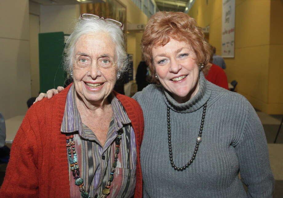 (For the Chronicle/Gary Fountain, February 9, 2012)  Terry Hershey, left, and Ann Hamilton. Photo: Gary Fountain, Freelance / Copyright 2012 Gary Fountain.