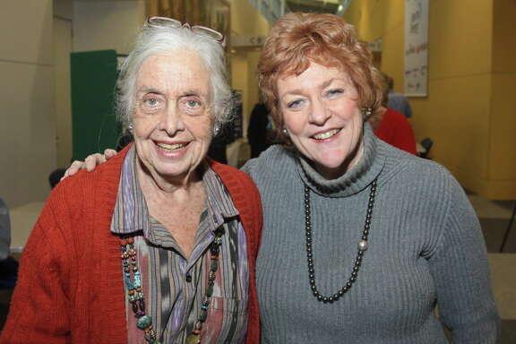 (For the Chronicle/Gary Fountain, February 9, 2012)  Terry Hershey, left, and Ann Hamilton.