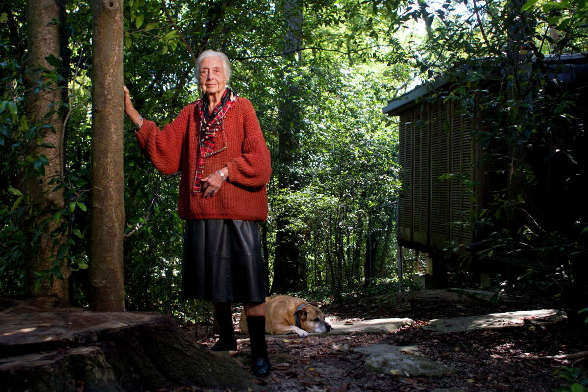 Portrait of Terry Hershey, 90, at her home Wednesday, Oct. 23, 2013, in Houston. Hershey, who has a park along the Energy Corridor named after her, has been a life-long conservationist. ( Johnny Hanson / Houston Chronicle )