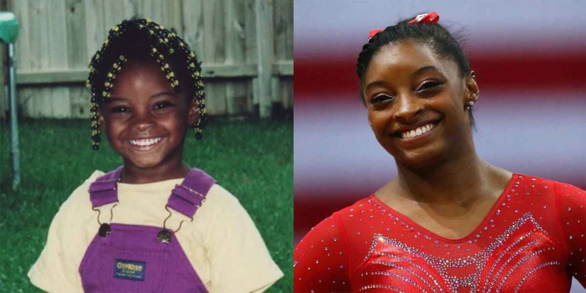 That's Simone Biles as a kid on the left. She discovered gymnastics at 6 on a day care field trip to the gym that would become her training ground.