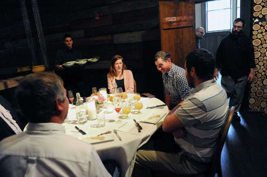 Farm to table tasting at City Beer Hall on Wednesday May 18, 2016 in Albany, N.Y. (Michael P. Farrell/Times Union) Photo: Michael P. Farrell / 40036620A