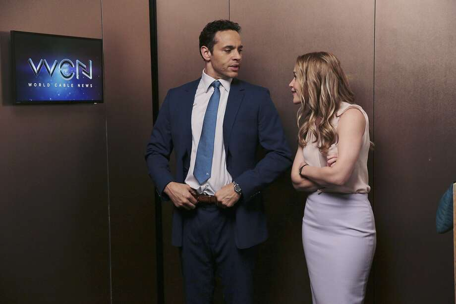 "Daniel Sunjata and Piper Perabo in ""Notorious."" Photo: Eli Joshua Ade, Associated Press"