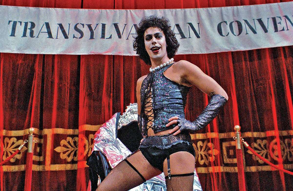 Tim Curry gave a dry, yet very funny, response to someone calling his early-career turn as Dr. Frank-N-Furter (in photo) in the original 'Rocky Horror Picture Show' the actor's 'enduring legacy.'