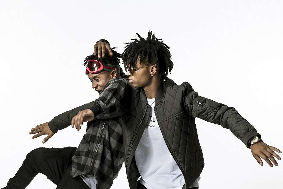 Slim Jimmi (left) and Swae Lee are the hip-hop duo Rae Sremmurd. Photo: CHAD BATKA, NYT