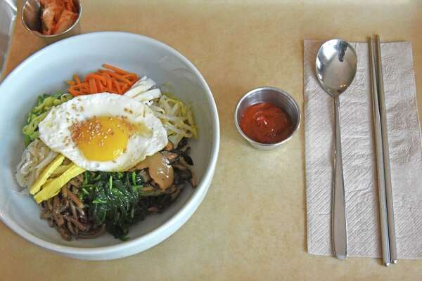 Bibimbap at Sunhee's Farm & Kitchen on Friday Aug. 12, 2016 in Troy, N.Y. (Michael P. Farrell/Times Union)