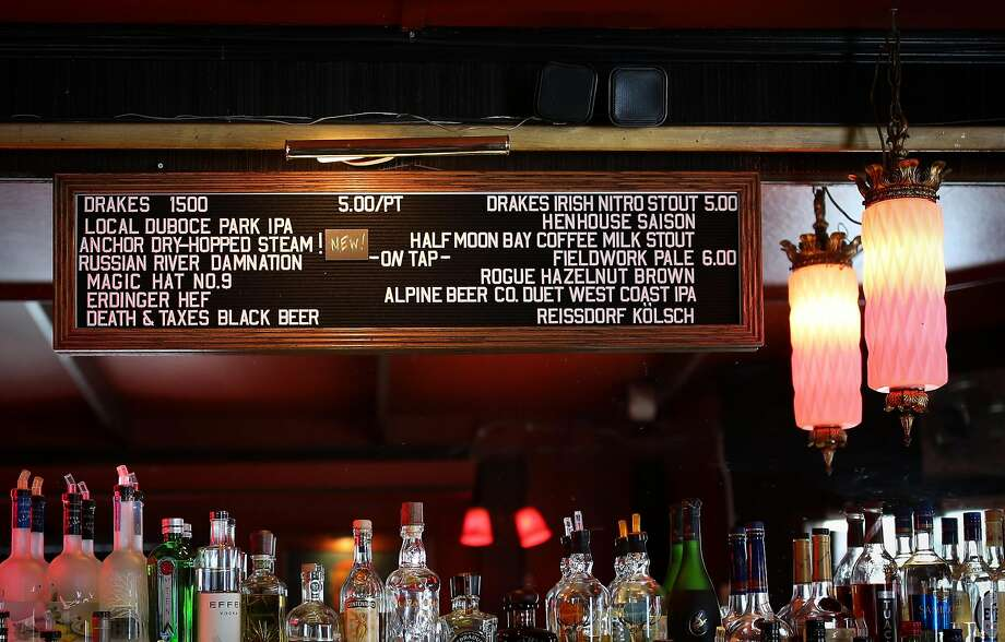 The tap beer menu board at the Page in S.F. Photo: Amy Osborne, Special To The Chronicle