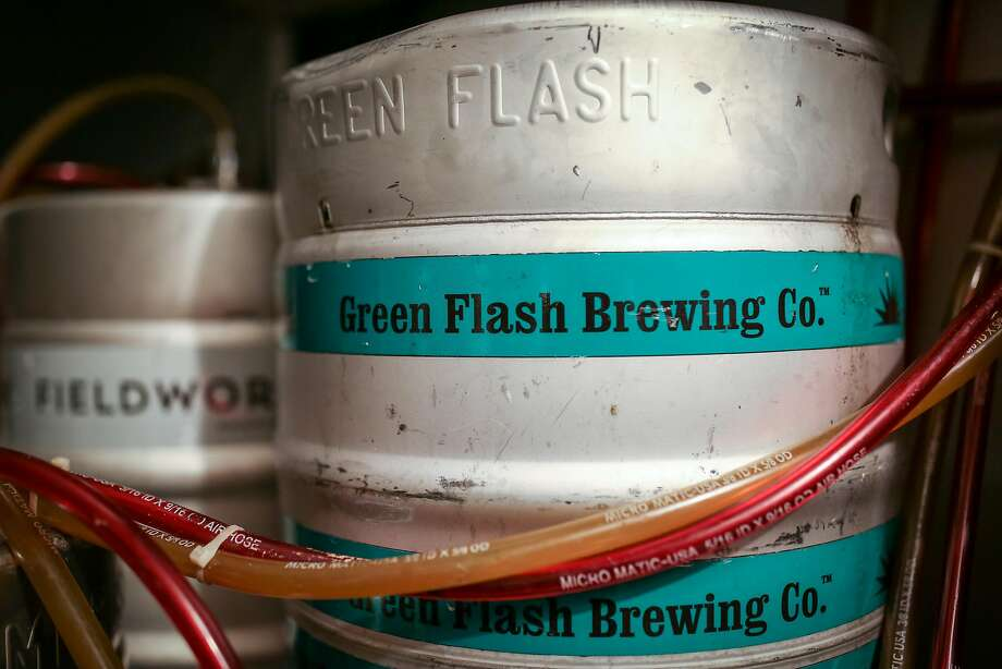 A keg of beer from Green Flash Brewing Co. at The Page in San Francisco on Thursday, Aug. 18th. Photo: Amy Osborne, Special To The Chronicle