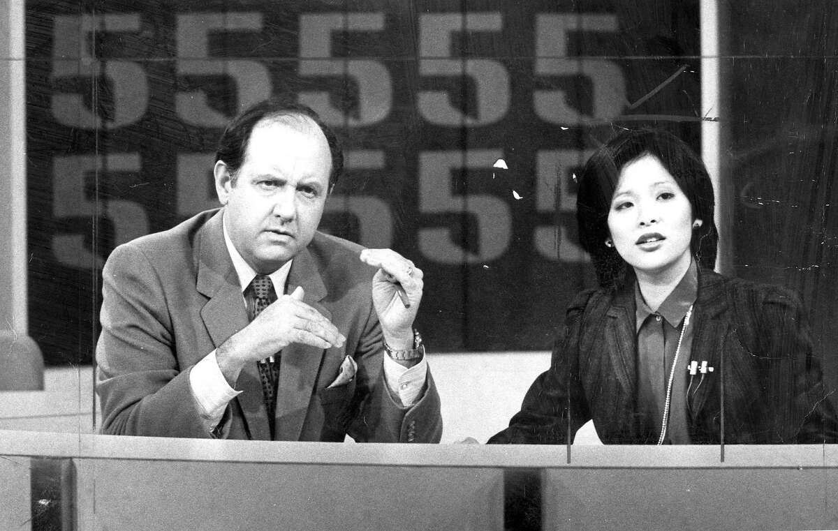 Wendy Tokuda and Dave McElhatton early in their partnership at KPIX. Oct. 16, 1981.