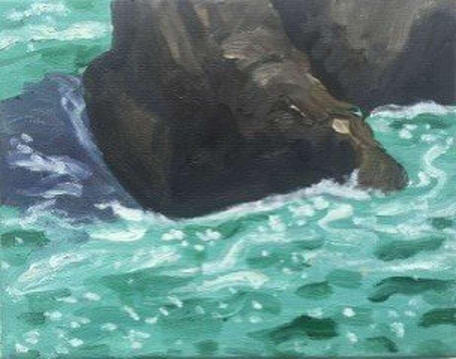 Ocean painting by Marie Van Elder Photo: Marie Van Elder
