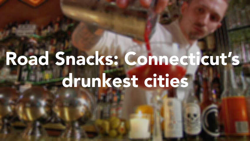 Who's getting the most drunk in Connecticut? According to Roadsnacks.com, the top 10 list of