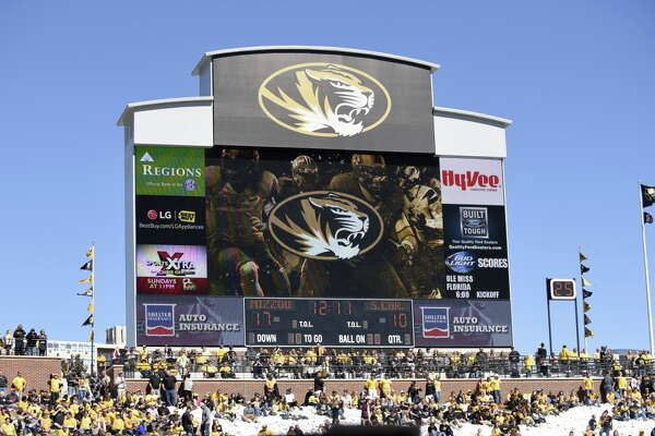 COLUMBIA , MO - OCTOBER 3:  A general view of the scoreboard in the third quarter at Memorial Stadium during a game between the South Carolina Gamecocks and Missouri Tigers on October 3, 2015 in Columbia, Missouri.  (Photo by Ed Zurga/Getty Images) ORG XMIT: 570377231
