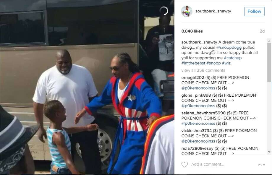 Shantel Nelson, known as Southpark_Shawty on Instagram, met Snoop Dogg on Aug. 21, 201 after he saw her humorous videos and photos on her Instagram account.Snoop Dogg took Nelson out shopping and hung out with her on his tour bus.Via Instagram Photo: Instagram