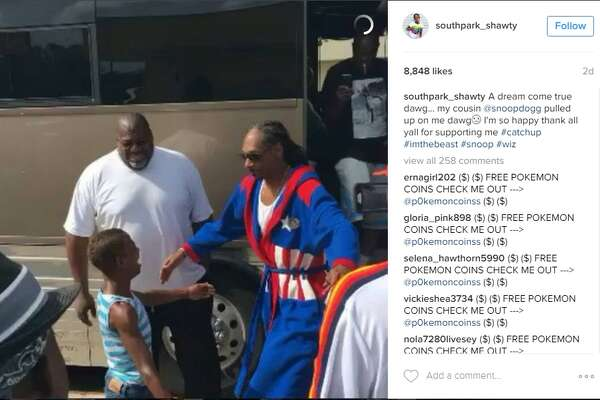 Shantel Nelson, known as Southpark_Shawty on Instagram, got to meet Snoop Dogg on Aug. 21, 2016.   Snoop Dogg took Nelson out shopping and hung out with her on his tour bus.   Nelson posts humorous videos and photos on her Instagram account, which is how Snoop Dogg discovered her.
