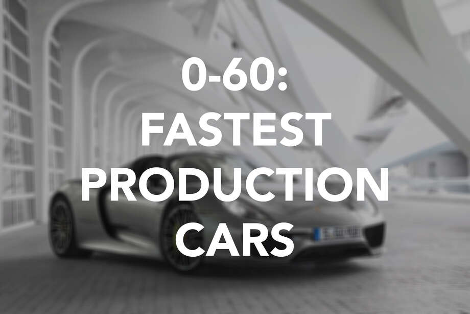 The world's fastest production cars.