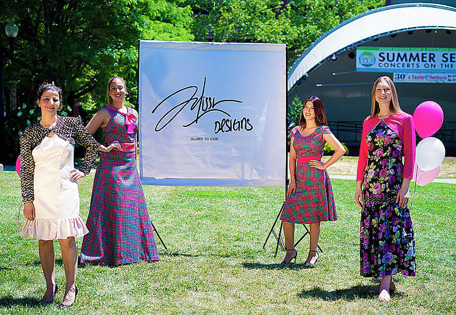 Models wear the 2016 spring/summer collection by Julissa Designs during a show this summer at the Danbury Green. Photo: Contributed / Contributed Photo / The News-Times Contributed