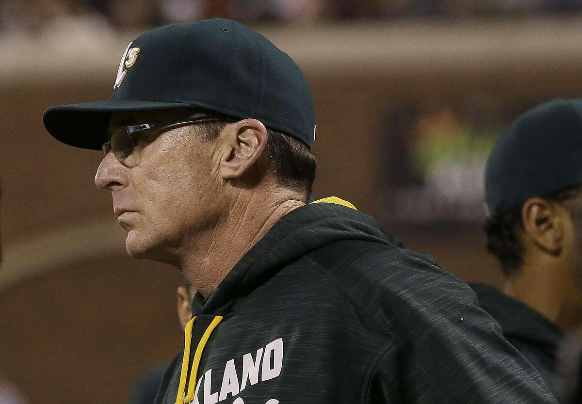 Oakland Athletics manager Bob Melvin.