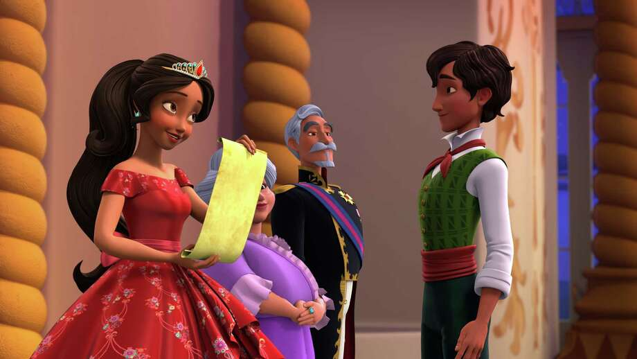 """Elena of Avalor, Luisa, Francisco and Mateo (right) in the episode """"Spellbound"""" airing Friday, August 26 (7:30 - 8:00 P.M. EDT) on Disney Channel. Synopsis:When a wicked wizard named Fiero turns Elena's family to stone, the princess enlists the help of Mateo, her newly appointed Royal Wizard, to undo the spell and save her family. Photo: Disney Channel, ELENA, LUISA, FRANCISCO Y MATEO En Elena Of Avalor's""""Spellbound"""" Episode: When A Wicked Wizard Named Fiero Turns Elena's Family To Stone, Elena Enlists The Help Of Mateo, Her Newly Appointed Royal Wizard, To Undo The Spell And Save Her Fam / © 2016 Disney Enterprises, Inc. All rights reserved."""