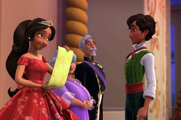 "ELENA OF AVALOR - ""Spellbound"" - When a wicked wizard named Fiero turns Elena's family to stone, Elena enlists the help of Mateo, her newly appointed Royal Wizard, to undo the spell and save her family. This episode of ""Elena of Avalor"" airs Friday, August 26 (7:30 - 8:00 P.M. EDT) on Disney Channel. (Disney Channel) ELENA, LUISA, FRANCISCO, MATEO"