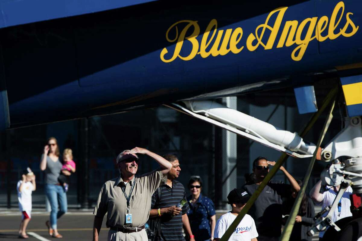 How many places do the Blue Angels fly in a year?