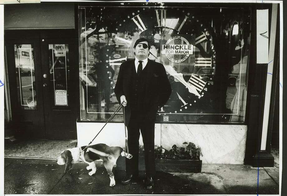 Warren Hinckle - with dog Bentley, Oct 29, 1987 Photo: Eric Luse, SF Chronicle File