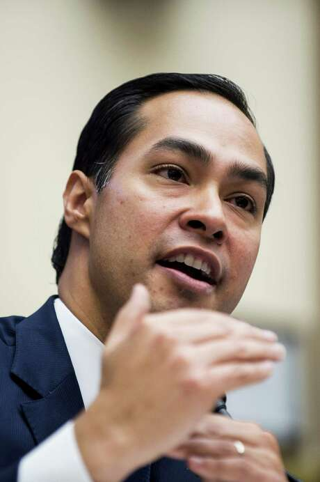 Julian Castro, secretary of U.S. Housing and Urban Development (HUD), speaks during a House Financial Services Committee hearing in Washington, D.C., U.S., on Wednesday, July 13, 2016. Distressed Asset Stabilization Program recoveries were 16% higher than recoveries on assets conveyed through traditional foreclosure action in last fiscal year, Castro said. Photographer: Pete Marovich/Bloomberg Photo: Pete Marovich / Bloomberg / © 2016 Bloomberg Finance LP