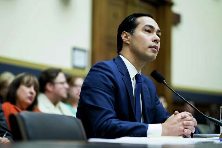 Julian Castro, secretary of U.S. Housing and Urban Development (HUD), listens during a House Financial Services Committee hearing in Washington, D.C., U.S., on Wednesday, July 13, 2016. Distressed Asset Stabilization Program recoveries were 16% higher than recoveries on assets conveyed through traditional foreclosure action in last fiscal year, Castro said. Photographer: Pete Marovich/Bloomberg