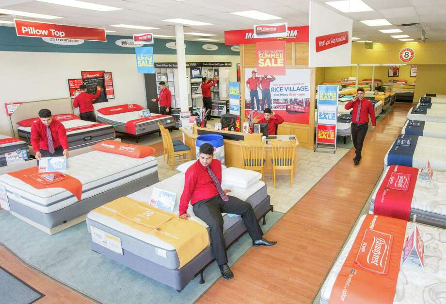 Composite photo: Renan Brandao, a store manager for two Mattress Firm stores on Rice Boulevard, looks for things to do. Photo: Jon Shapley, Houston Chronicle / © 2015  Houston Chronicle