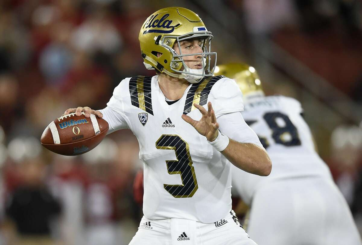 10. UCLA vs. Texas A&M - Sept. 9 at 12:30 p.m. PDT, Kyle Field, College Station, Texas. The No. 16 UCLA Bruins take on Texas A&M on Saturday, and plenty of Bay Area fans will be on hand to see who comes out victorious. Those traveling to Kyle Field can expect to lose their voice from cheering - they will have to contend with those attending Midnight Yell Practice the night before. (Good luck!) Pictured: Josh Rosen #3 of the UCLA Bruins looks to throw a pass against the Stanford Cardinals in the first quarter of an NCAA football game at Stanford Stadium in this file photo from Oct. 15, 2015, in Palo Alto.