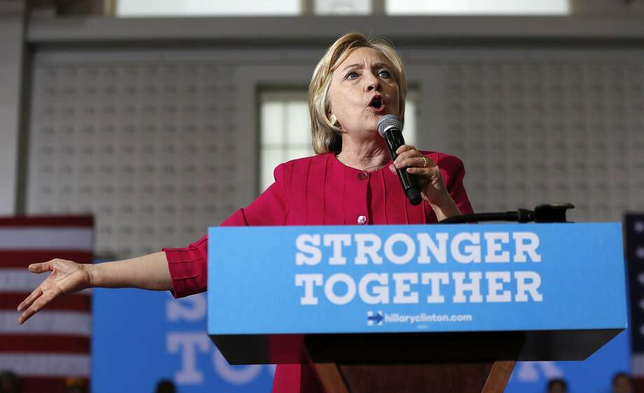 FILE - In this Aug. 16, 2016 file photo, Democratic presidential candidate Hillary Clinton speaks in Philadelphia. More than half the people outside the government who met with Hillary Clinton while she was secretary of state gave money, either personally or through companies or groups, to the Clinton Foundation. It's an extraordinary proportion indicating her possible ethics challenges if elected president.  (AP Photo/Carolyn Kaster, File) Photo: Carolyn Kaster, Associated Press