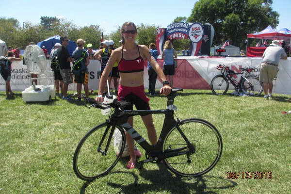 Stefanie Cullingford, a 2006 graduate of Mausuk, place 10th in her division at the National USA Age-Group Triathlon Championships in Omaha Neb., on Aug. 13.