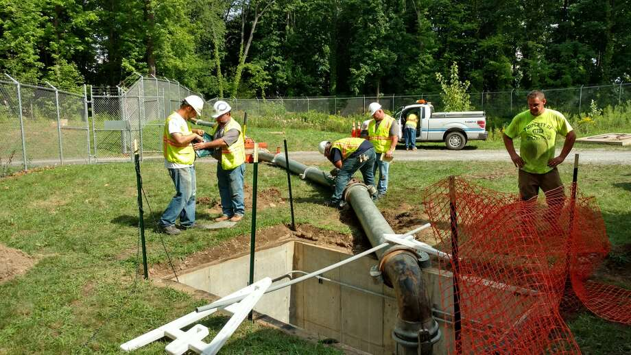 Albany taps into Colonie's water supply at the Loudonville Pump Station right next to Albany's Loundonville Reservoir.  (Photo courtesy of Latham Water District)