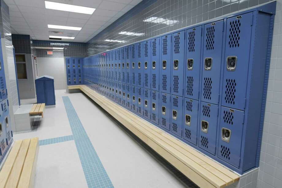 A view of the new boys locker room inside Mont Pleasant Middle School on Tuesday, Aug. 23, 2016, in Schenectady, N.Y.   (Paul Buckowski / Times Union) Photo: PAUL BUCKOWSKI / 20037754A
