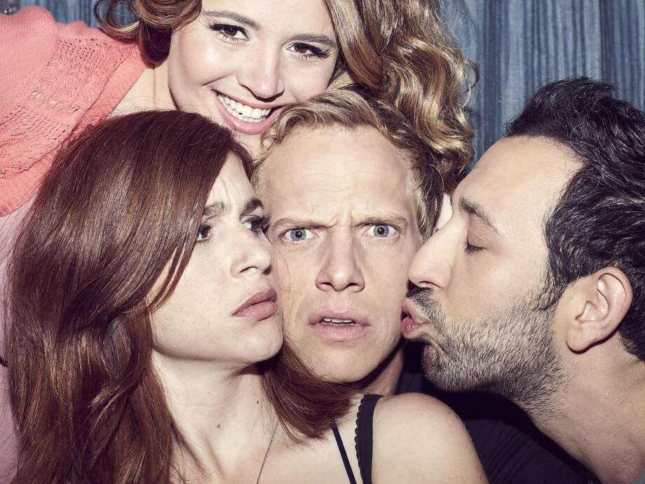 Pictured: (l-r) Aya Cash as Gretchen, Kether Donohue as Lindsay, Chris Geere as Jimmy, Desmin Borges as Edgar.  Photo: Copyright 2016, FX Networks. All Rights Reserved.
