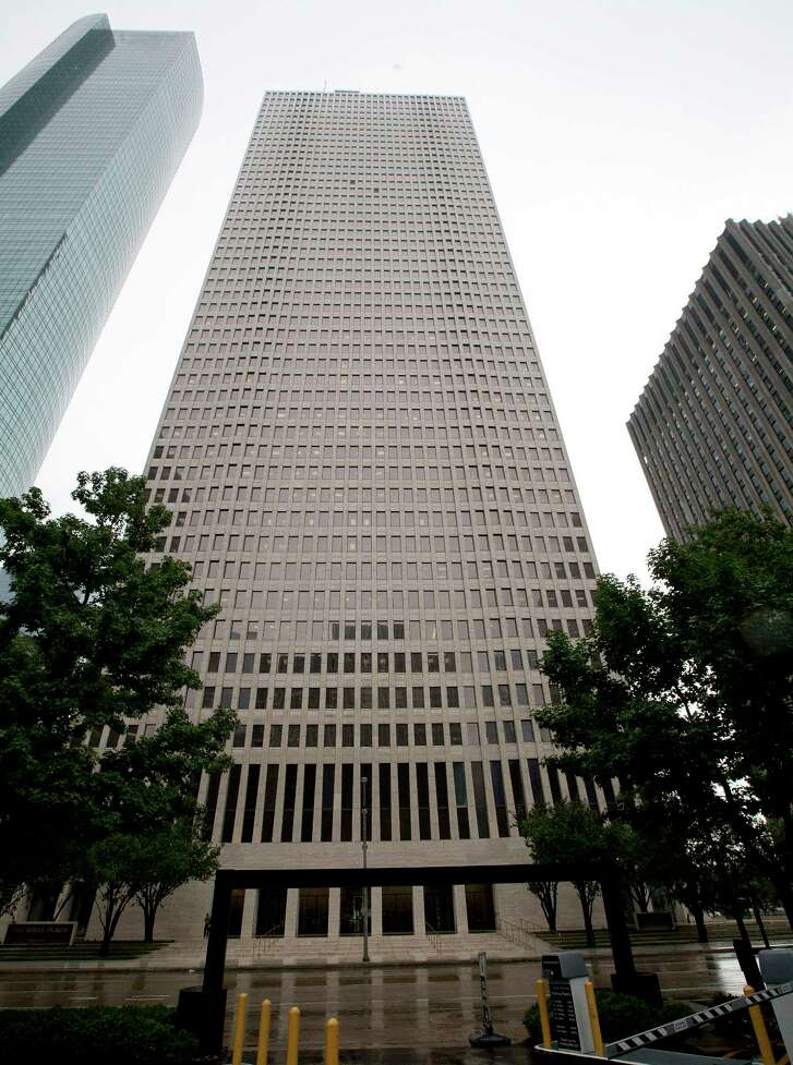 NRG Energy is consolidating its downtown workers at the 50-story One Shell Plaza, once Texas' tallest building.