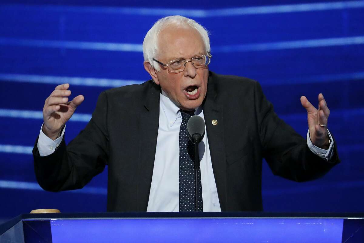 FILE - In this July 25, 2016 file photo, Sen. Bernie Sanders, I-Vt. speaks at the Democratic National Convention in Philadelphia. Sanders� presidential campaign got two deadline extensions on filing a candidate disclosure with the Federal Election Commission (FEC), and then was excused from doing so after he dropped out of the race. (AP Photo/J. Scott Applewhite, File)