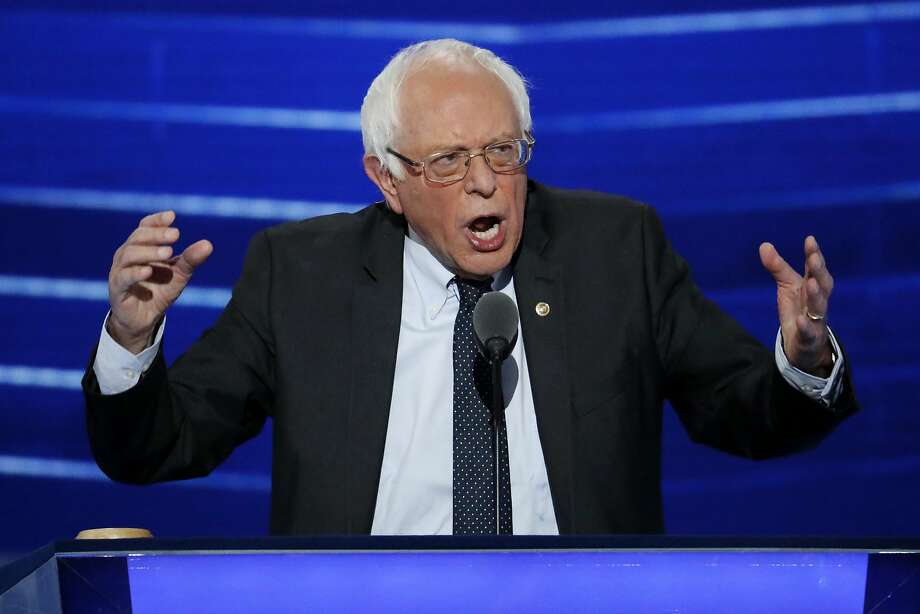In this July 25, 2016 file photo, Sen. Bernie Sanders, I-Vt. speaks at the Democratic National Convention in Philadelphia. Sanders' new organization, Our Revolution, just lost a good chunk of its staff. Photo: J. Scott Applewhite, Associated Press