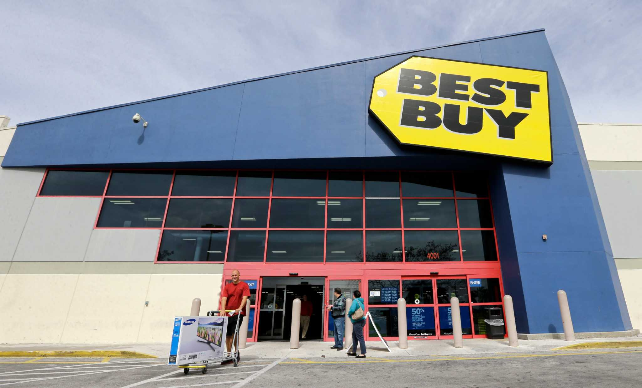 Best Buy leads way on day of gains - Times Union